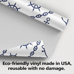 Nautical Anchor Rudder and Chain Wallpaper (R988)