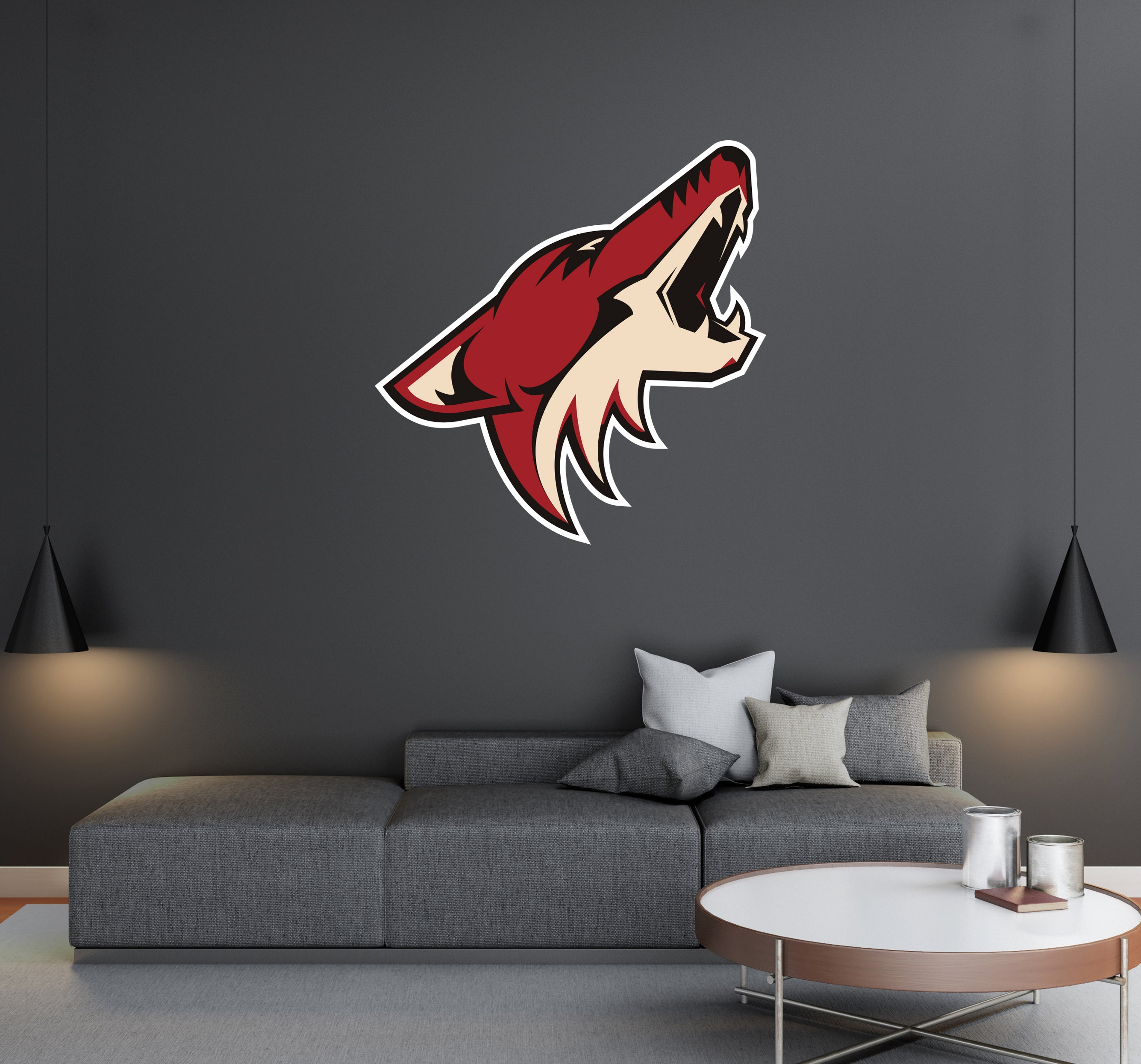Arizona Coyotes - NHL Hockey Team Logo - Wall Decal Removable & Reusable For Home Bedroom