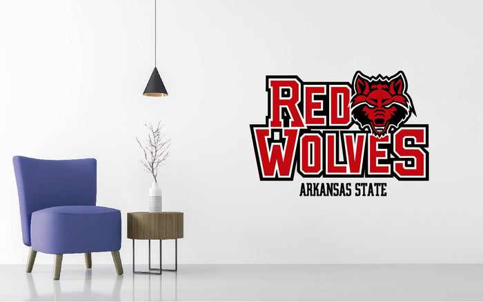 Arkansas State Red Wolves Football NCAA Wall decal Sticker