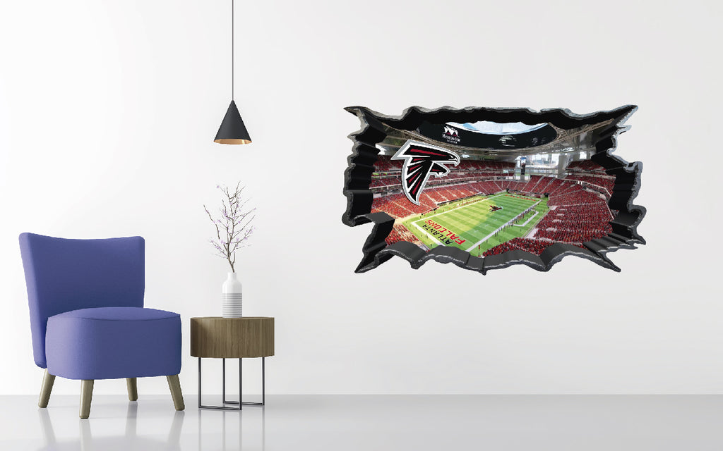 Atlanta Falcons Stadium - Football Stadium 3D Effect - Brake Wall Effect 3D - Wall Decal For Rooms And Living Room