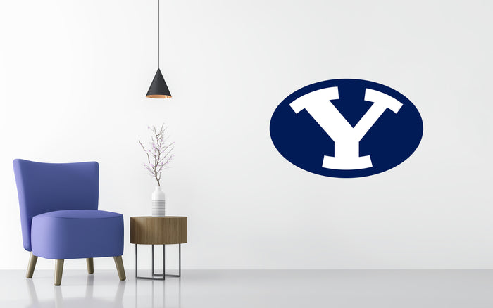 BYU Cougars Basketball NCAA Wall decal Stickerw