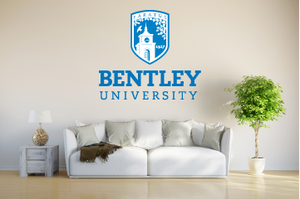 Bentley USA Waltham Massachusetts Universities Logo  Wall decal Stickers