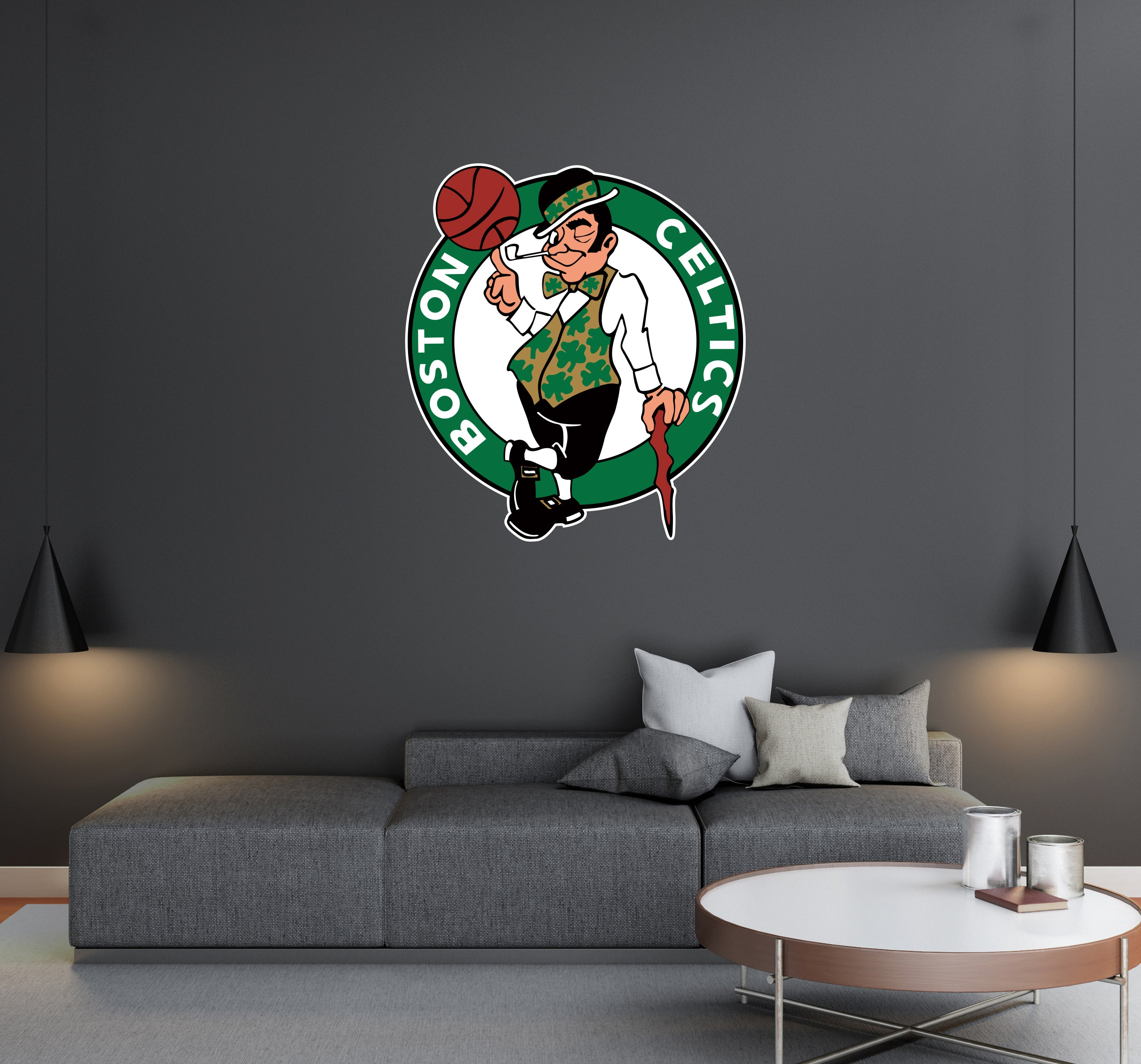 Boston Celtics - NBA Basketball Team Logo - Wall Decal Removable & Reusable For Home Bedroom