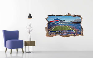Buffalo Bills Stadium - Football Stadium 3D Effect - Brake Wall Effect 3D - Wall Decal For Rooms And Living Room