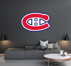 Canadiens De Montreal  - NHL Hockey Team Logo - Wall Decal Removable & Reusable For Home Bedroom