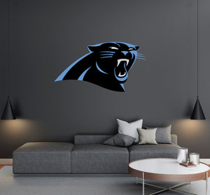 Carolina Panthers - NFL Football Team Logo - Wall Decal Removable & Reusable For Home Bedroom