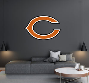 Chicago Bears - NFL Football Team Logo - Wall Decal Removable & Reusable For Home Bedroom