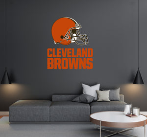 Cleveland Browns - NFL Football Team Logo - Wall Decal Removable & Reusable For Home Bedroom
