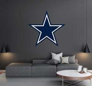 Dallas Cowboys - NFL Football Team Logo - Wall Decal Removable & Reusable For Home Bedroom