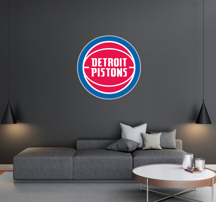 Detroit Pistons  Logo Wall Decal