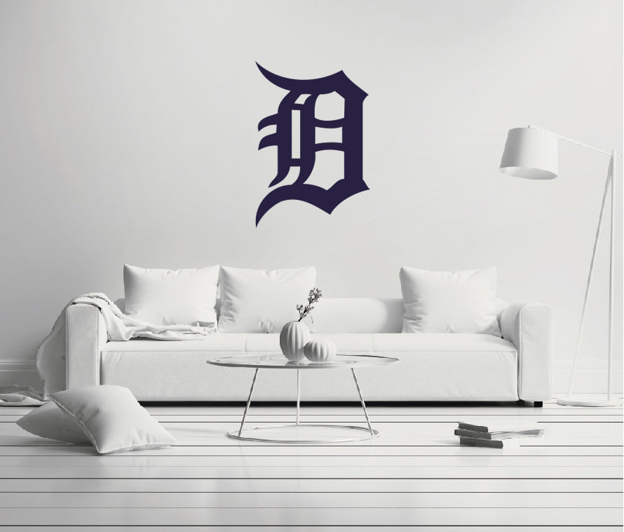 Detroit Tigers - MLB Baseball Team Logo - Wall Decal Removable & Reusable For Home Bedroom