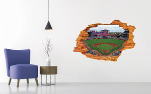 Atlanta Braves Stadium - Baseball Stadium 3D Effect - Brake Wall Effect 3D - Wall Decal For Rooms And Living Room