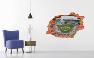 Los Angeles Dodgers Stadium - Baseball Stadium 3D Effect - Brake Wall Effect 3D - Wall Decal For Rooms And Living Room