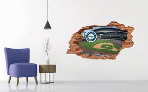 Seattle Mariners Stadium - Baseball Stadium 3D Effect - Brake Wall Effect 3D - Wall Decal For Rooms And Living Room