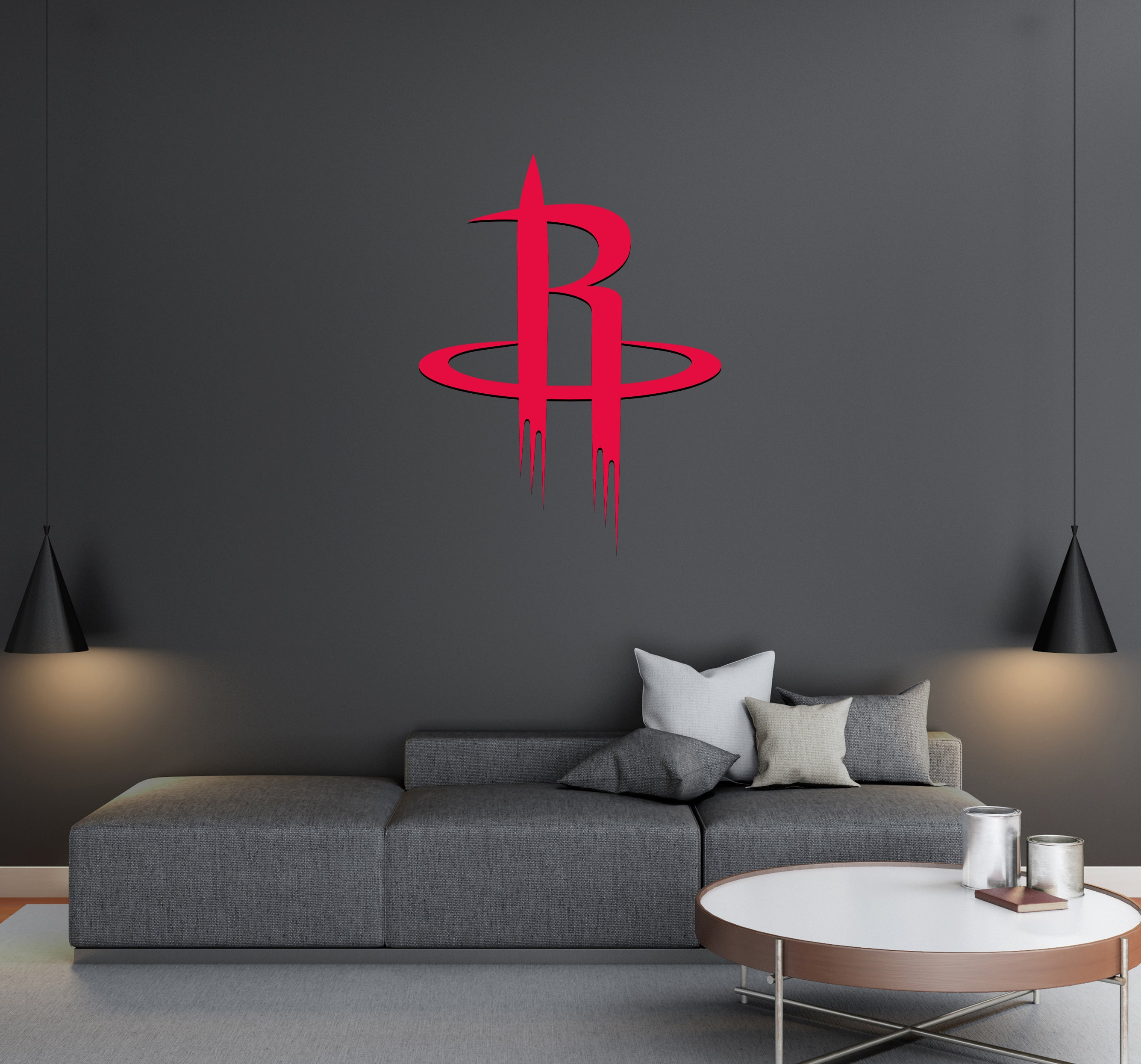 Houston Rockets - NBA Basketball Team Logo - Wall Decal Removable & Reusable For Home Bedroom