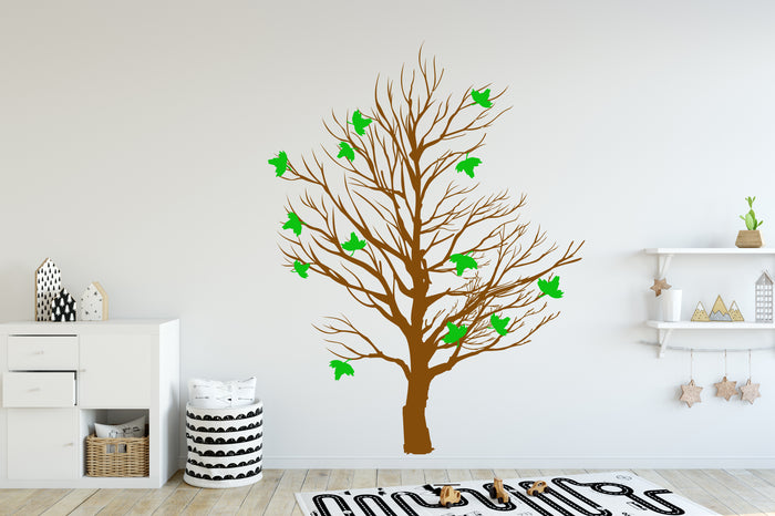 Tree Leaves Wall Decal (Y01)