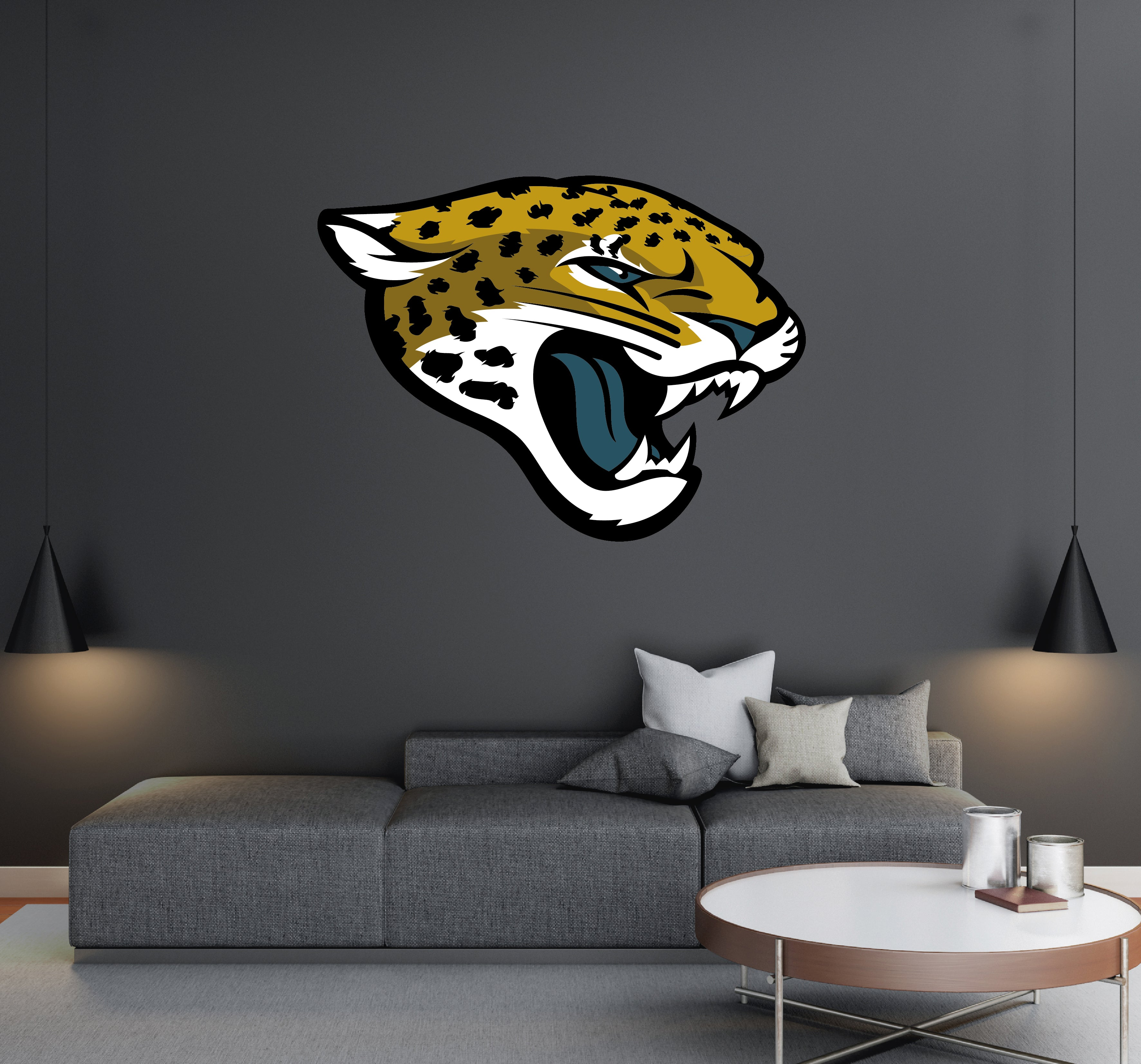 Jacksonville Jaguars - NFL Football Team Logo - Wall Decal Removable & Reusable For Home Bedroom