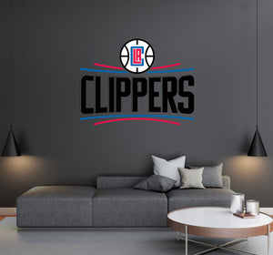 Los Angeles Clippers - NBA Basketball Team Logo - Wall Decal Removable & Reusable For Home Bedroom