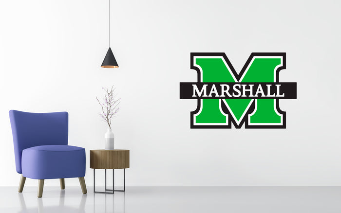 Marshall University Basketball NCAA Wall decal Stickerz