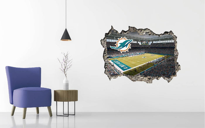 Miami Dolphins Stadium Wall Decal