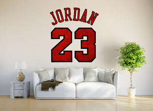 Michael Jordan Jumpman Number 23 The Last Dance Wall Decal.