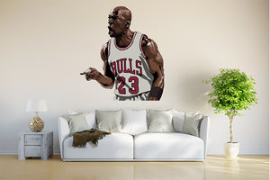 Michael Jordan Jumpman Comic The Last Dance Wall Decal.