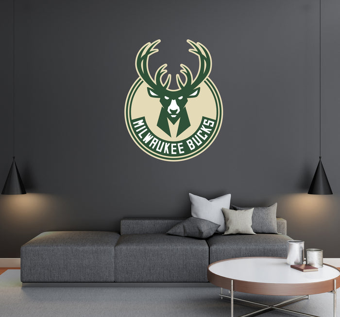 Milwaukee Bucks Logo Wall Decal
