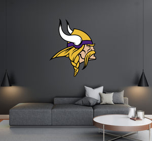 Minnesota Vikings - NFL Football Team Logo - Wall Decal Removable & Reusable For Home Bedroom