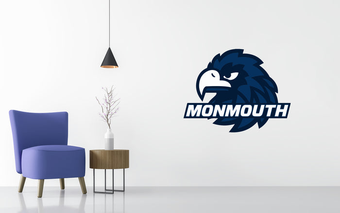 Monmouth Hawks Basketball NCAA Wall decal Sticker