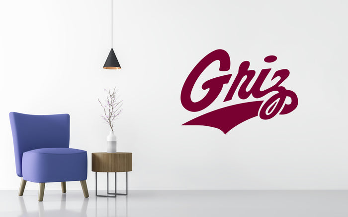 Montana Grizzlies Basketball NCAA Wall decal Sticker