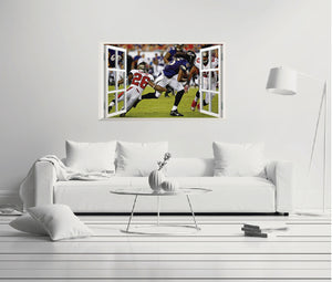 NFL T&a Bay Buccaneers vs Baltimore Ravens - Football Player 3D Effect - Brake Wall Effect  sc 1 st  e-Graphic Design & NFL Tampa Bay Buccaneers vs Baltimore Ravens - Football Player 3D ...