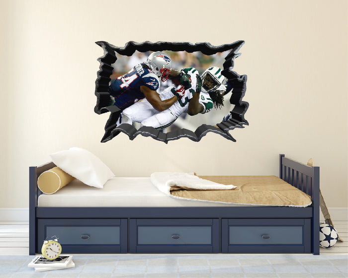 NFL New York Jets vs New England Patriots Wall Decal
