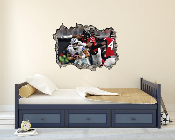 NFL Atlanta Falcons vs Dallas Cowboys Wall Decal