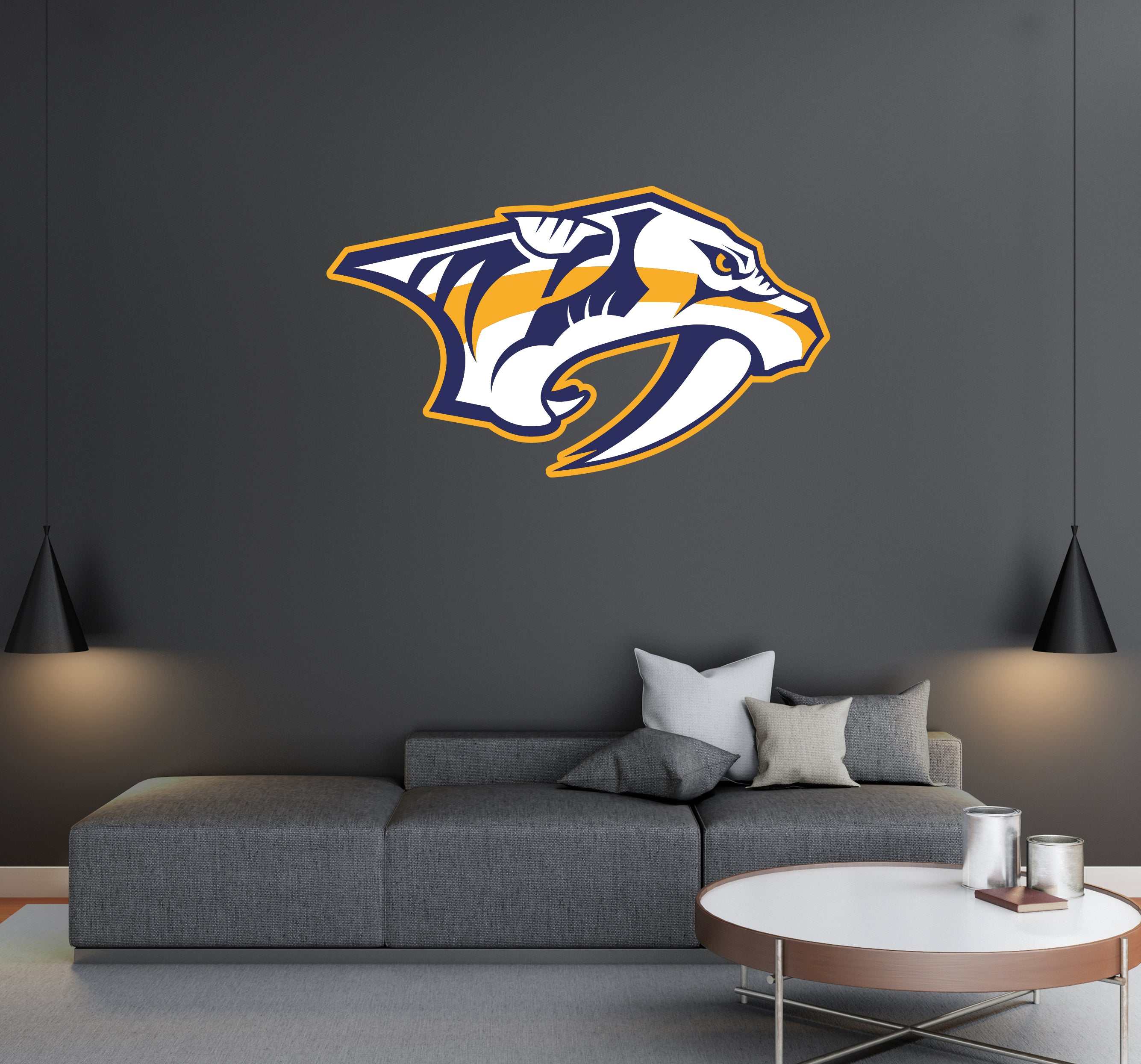 Nashville Predators - NHL Hockey Team Logo - Wall Decal Removable & Reusable For Home Bedroom