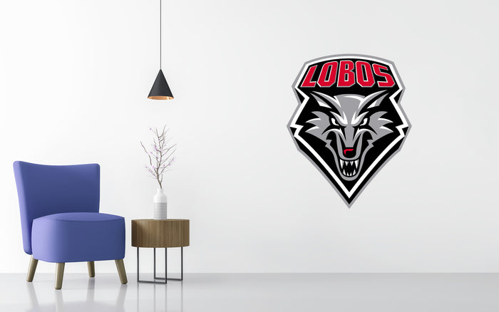 New Mexico Lobos Basketball NCAA Wall decal Sticker