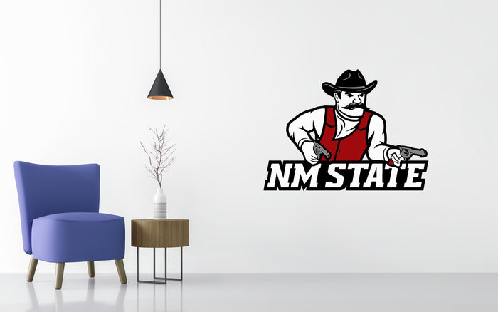 New Mexico State Aggies Basketball NCAA Wall decal Stickerw