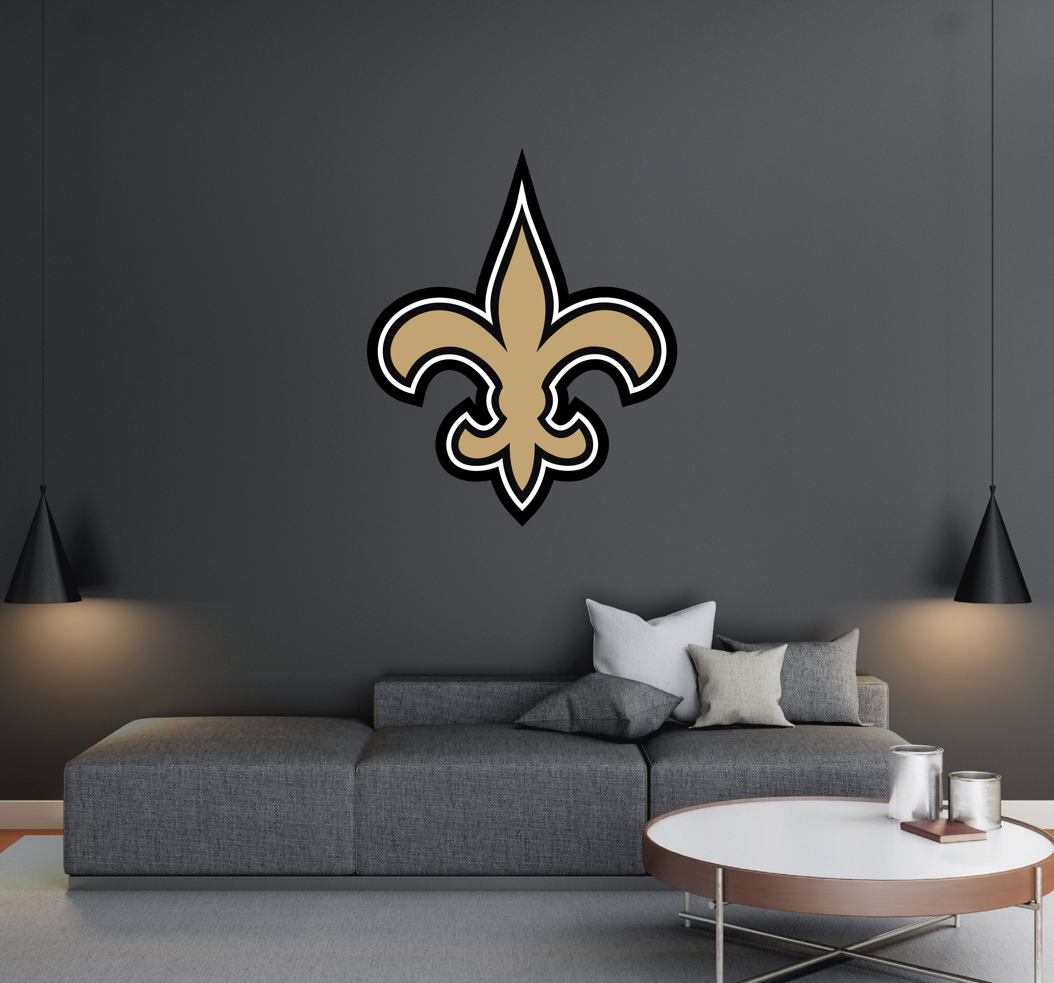 New Orleans Saints Nfl Football Team Logo Wall Decal Removable