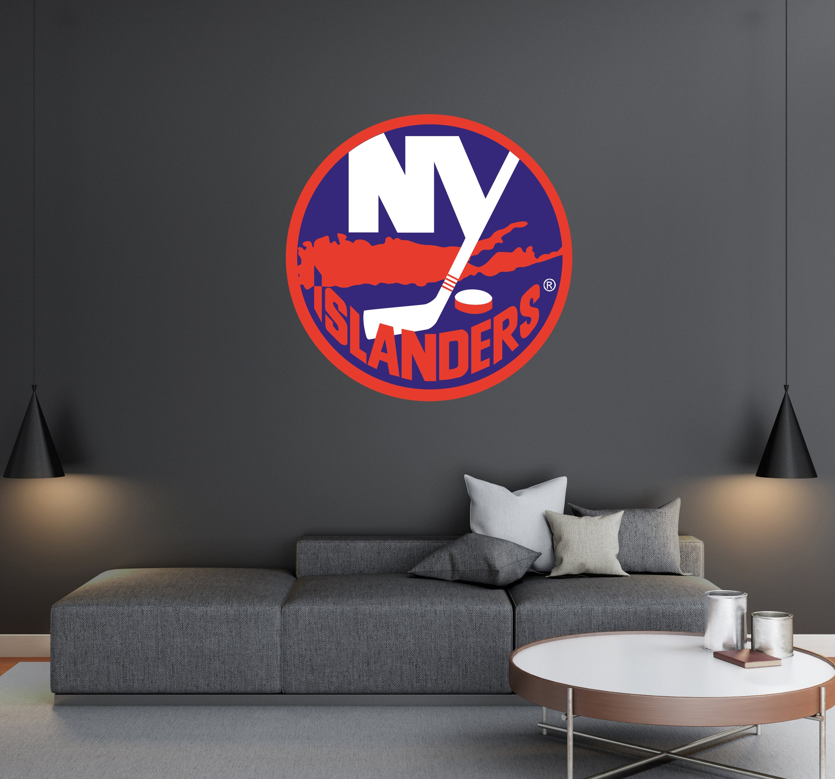New York Islanders - NHL Hockey Team Logo - Wall Decal Removable & Reusable For Home Bedroom