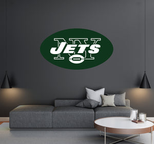 New York Jets - NFL Football Team Logo - Wall Decal Removable & Reusable For Home Bedroom