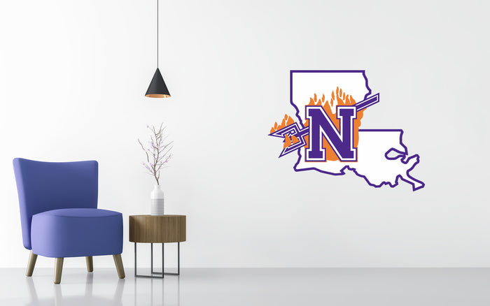 Northwestern State Basketball NCAA Wall decal Sticker