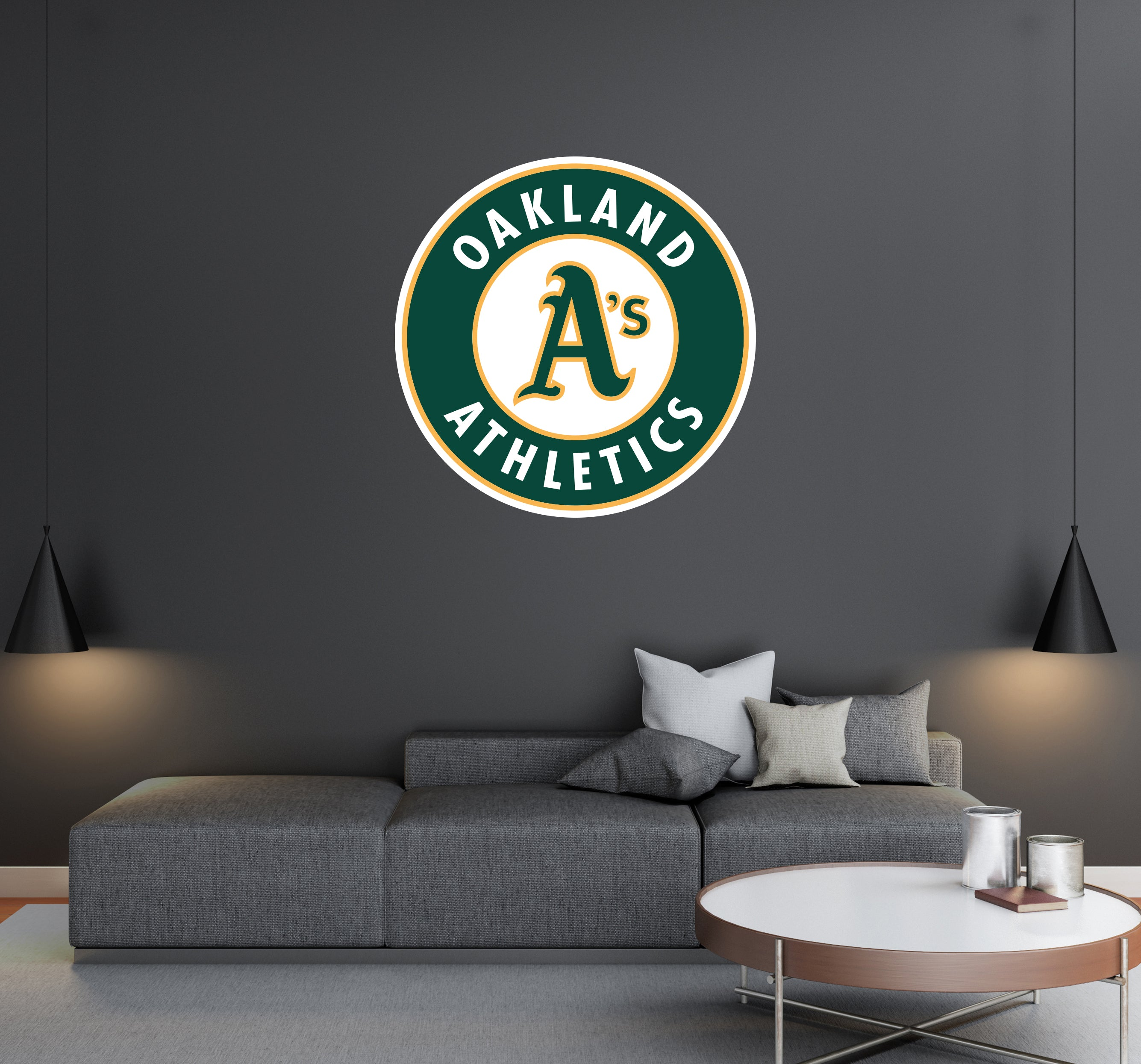 Oakland Athletics - MLB Baseball Team Logo - Wall Decal Removable & Reusable For Home Bedroom