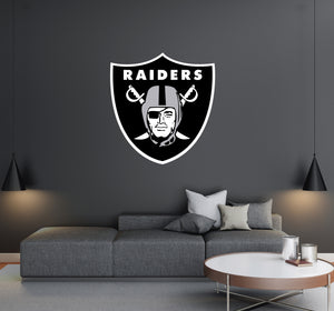 Oakland Raiders - NFL Football Team Logo - Wall Decal Removable & Reusable For Home Bedroom