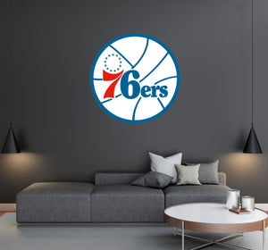 Philadelphia 76ers - NBA Basketball Team Logo - Wall Decal Removable & Reusable For Home Bedroom