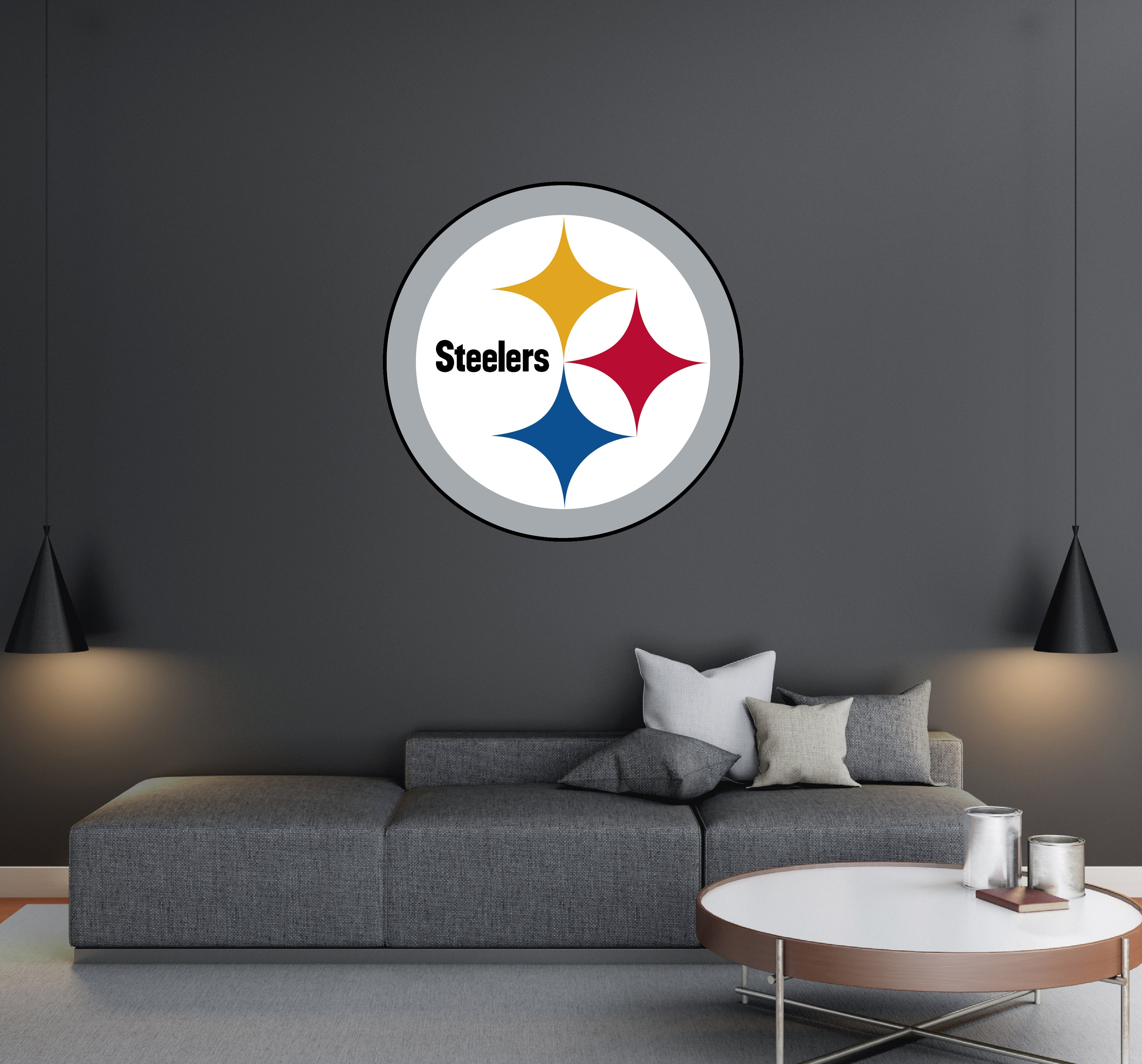 Pittsburgh Steelers - NFL Football Team Logo - Wall Decal Removable & Reusable For Home Bedroom