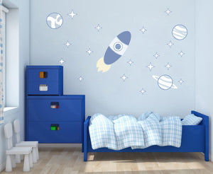 Traveling in Spaceship Wall Decal
