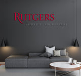 Rutgers University New Brunswick USA Logo Wall decal Stickers