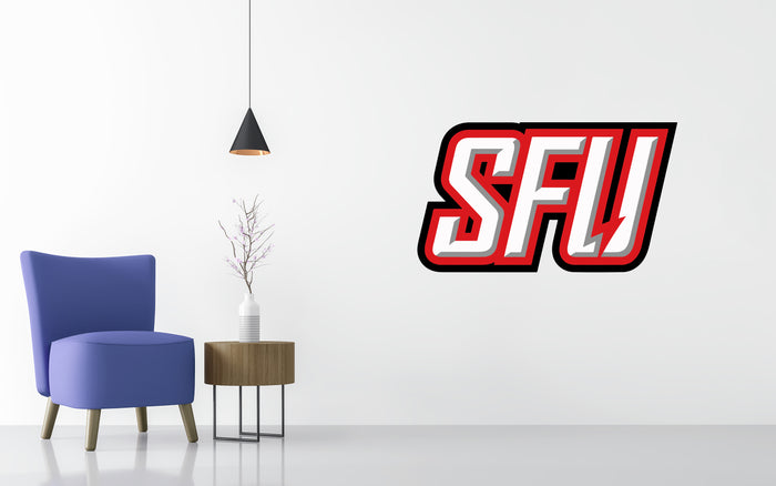 Saint Francis Red Flash Basketball NCAA Wall decal Sticker
