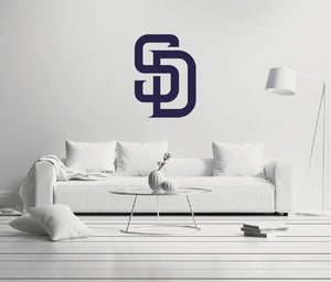 San Diego Padres - MLB Baseball Team Logo - Wall Decal Removable & Reusable For Home Bedroom
