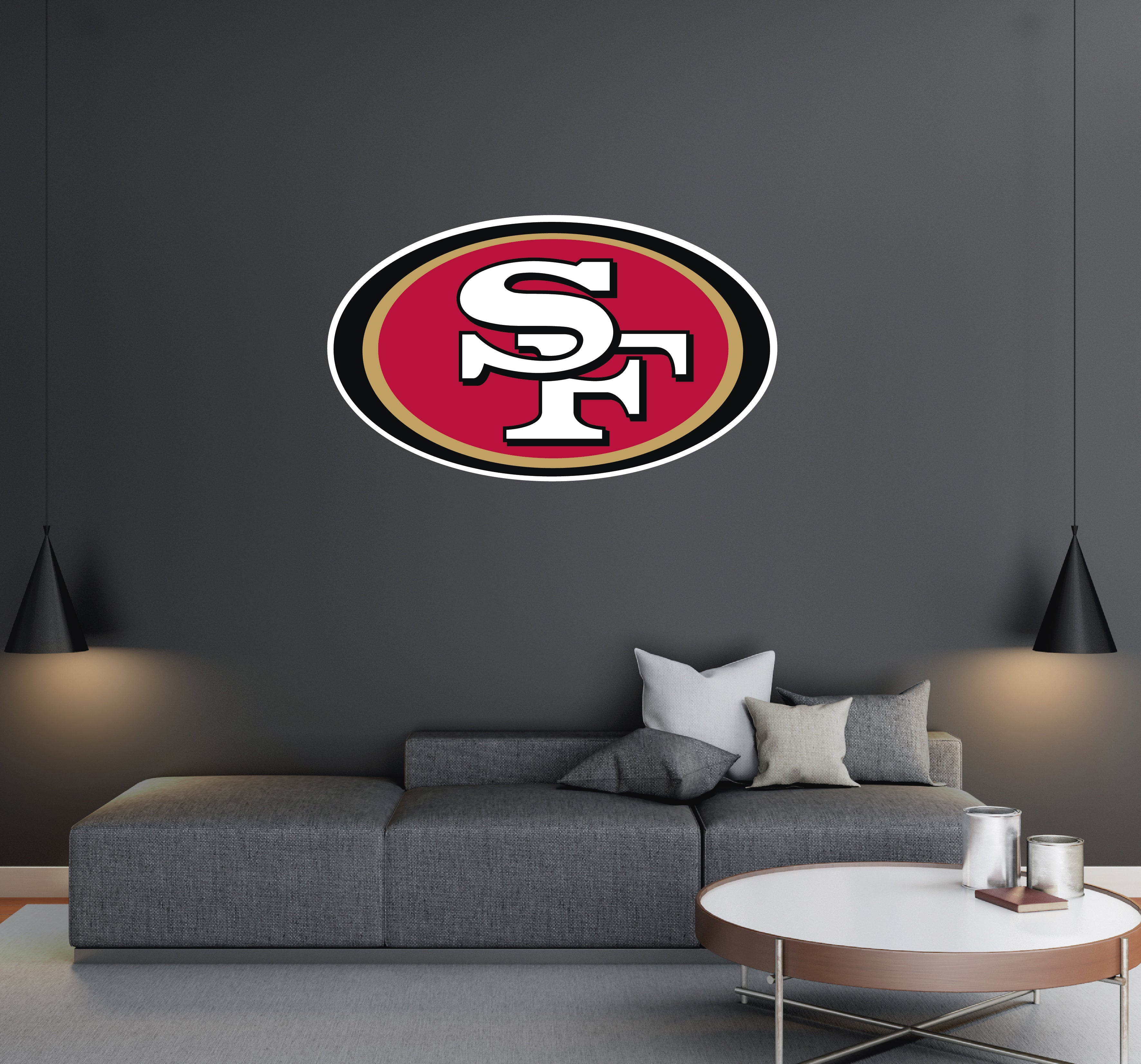 San Francisco 49ers - NFL Football Team Logo - Wall Decal Removable & Reusable For Home Bedroom