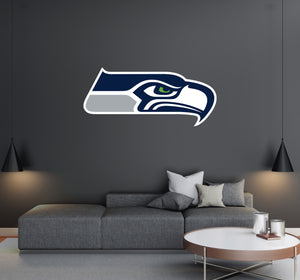 Seattle Seahawks - NFL Football Team Logo - Wall Decal Removable & Reusable For Home Bedroom